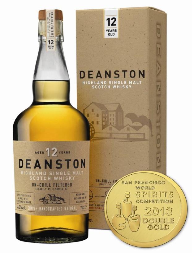 Whisky Deanston 12 ans - Double médaille d'or au Concours international de Spiritueux de San Francisco en 2013