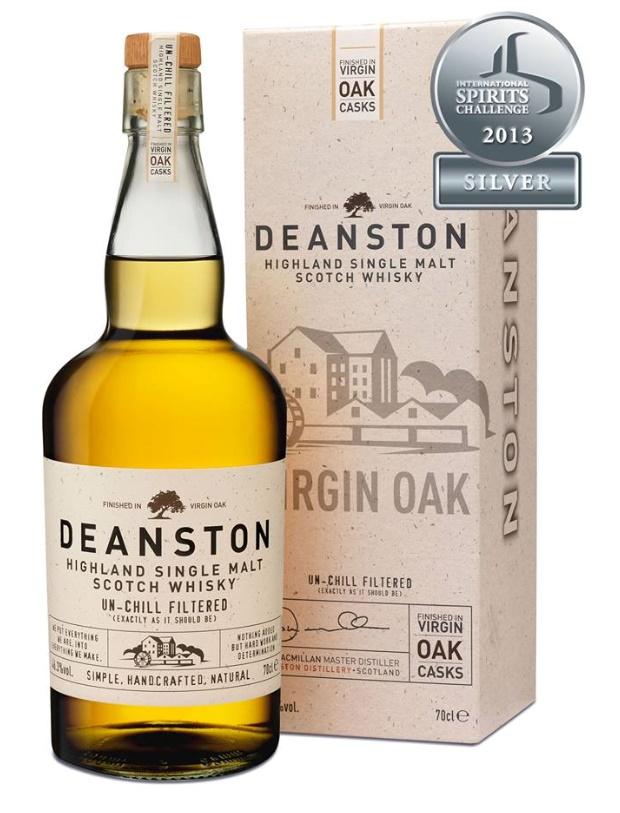 Whisky Deanston Virgin Oak - Médaille d'argent au Concours International de Spiritueux de San Francisco en 2013